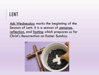 Lent and Holy Week Presentation and Guided Notes