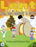Lent from Ash Wednesday to Easter Worksheet and Activity Pack