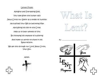Lenten Booklet