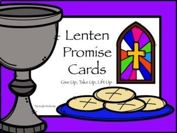 Lenten Promise Cards 2018