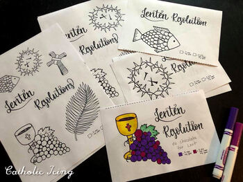 Lenten Resolutions Accountability Pages for Kids and Families