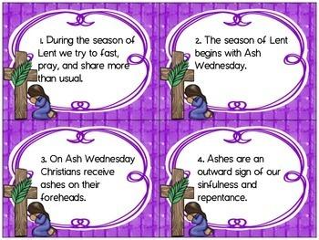 Lenten Task Cards Prepositional Phrases