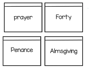 Lenten Vocabulary Foldable