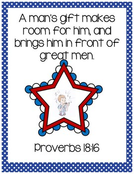Lentil Bible Verse Printable (Proverbs 18:16)