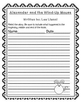 Leo Lionni Author Sheets
