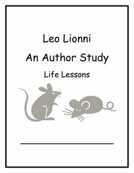 Leo Lionni Author Study Life Lessons Common Core Curriculu