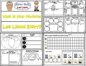 Leo Lionni Author Study (Story Companion bundle with Author activities)