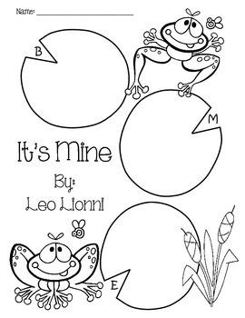 Leo Lionni B M E Story Maps By Colleen Alaniz Teachers Pay Teachers