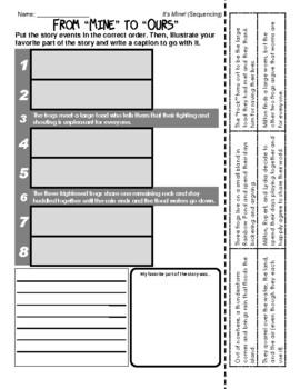 Leo Lionni (It's Mine! - Sequencing / Retelling)