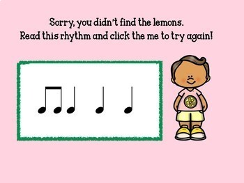 Leo's Lemonade Stand- Interactive Music Rhythm Game- quarter & eighth notes