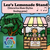 Interactive Music Game (Rhythm) Leo's Lemonade Stand- quarter & eighth notes