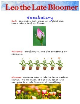 Leo the Late Bloomer - Vocabulary