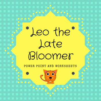 Leo the Late Bloomer Vocab PowerPoint and Worksheets