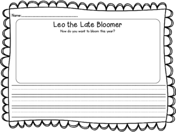 Leo the Late Bloomer- response