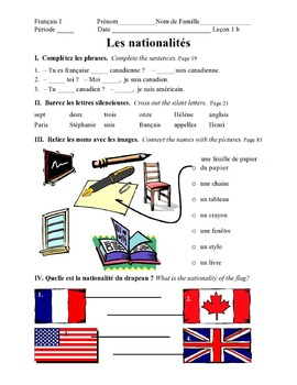 Discovering French Today Bleu Leçon 1 Supplemental activity pages - 20