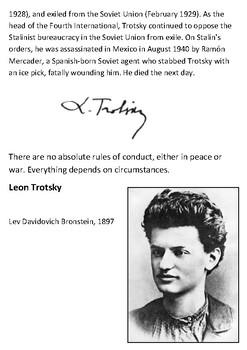 Leon Trotsky Handout