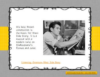 Leonard Bernstein - his life and music PPT