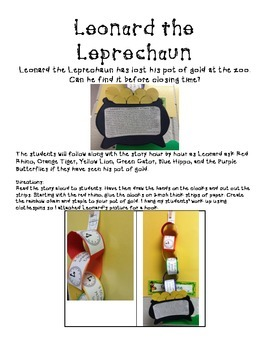 Leonard the Leprechaun: A Timely Tale - Time to the Hour craftivity