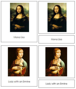 Da Vinci (Leonardo) 3-Part Art Cards