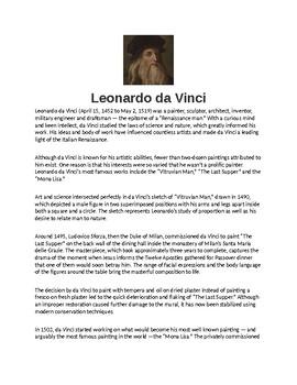 Cheap Essay Papers  High School Persuasive Essay also Synthesis Essays Leonardo Da Vinci Biography Article And Assignment Worksheet Argumentative Essay Topics High School