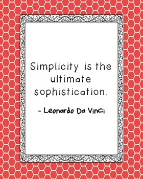 Leonardo Da Vinci Inspirational Quote Poster
