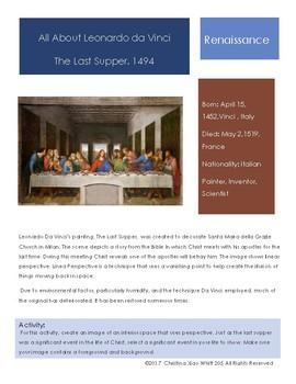 Leonardo Da Vinci Sketchbook Prompt- Last Supper