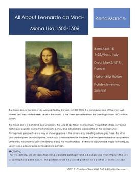 Leonardo Da Vinci Sketchbook Prompt- Mona Lisa
