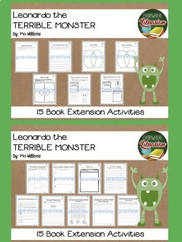 Leonardo The Terrible Monster and Sam the Most Scaredy-Cat Kid 2 Book Bundle