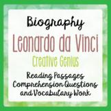 Leonardo da Vinci Biography Informational Texts Activities Grades 5 and 6