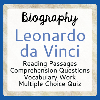 Essays About Business  Leonardo Da Vinci Biography Informational Texts Activities Grades  Political Science Essay also Thesis For Argumentative Essay Leonardo Da Vinci Biography Teaching Resources  Teachers Pay Teachers Example Of Thesis Statement For Argumentative Essay