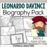 Leonardo da Vinci Biography Pack - Digital Biography Activity in Google Slides