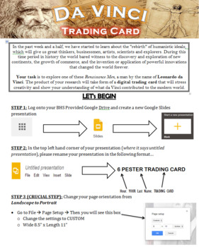 Leonardo da Vinci Digital Trading Card Project