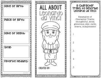 Leonardo da Vinci - Famous Artist Biography Research Project
