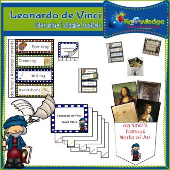 Leonardo da Vinci Interactive Foldable Booklets