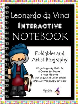 Leonardo da Vinci Interactive Notebook Foldables