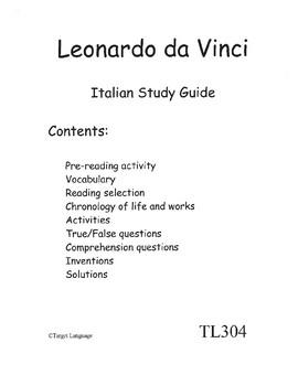 Leonardo da Vinci-Italian Study Guide