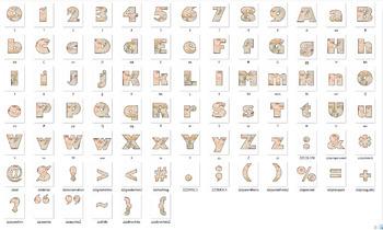 Bulletin Board Letters with Leonardo da Vinci Math Science Theme