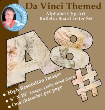 Alphabet Clip art Bulletin Board Letter Set Da Vinci Themed