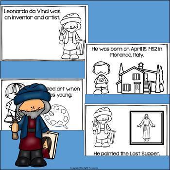 Leonardo da Vinci Mini Book for Early Readers: Inventors