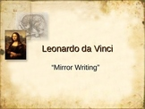 Leonardo da Vinci - Mirror Writing Activity - Renaissance