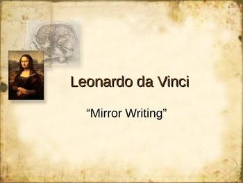 Leonardo da Vinci - Mirror Writing Activity