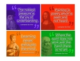 "Art Room: Artist Voices Inspirational Posters ""Leonardo da Vinci"""