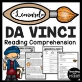 Artist Leonardo da Vinci Reading Comprehension Worksheet Renaissance Man
