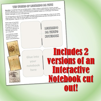 Leonardo da Vinci Reading and Interactive Notebook Activity