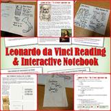 Leonardo da Vinci Reading and Interactive Notebook Activity
