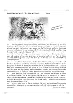 Leonardo da Vinci: The Modern Man (Biographical Passage and Assessment)