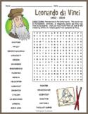 Leonardo da Vinci Word Search Puzzle