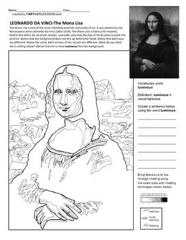 9245d10ec Leonardo da Vinci's Mona Lisa Art Lesson by PartNERLESSONS | TpT