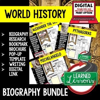 Leonardo daVinci Biography Research, Bookmark Brochure, Pop-Up Writing Google