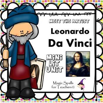 Leonardo daVinci - Meet the Artist - Artist of the Month - Mini Unit Printables